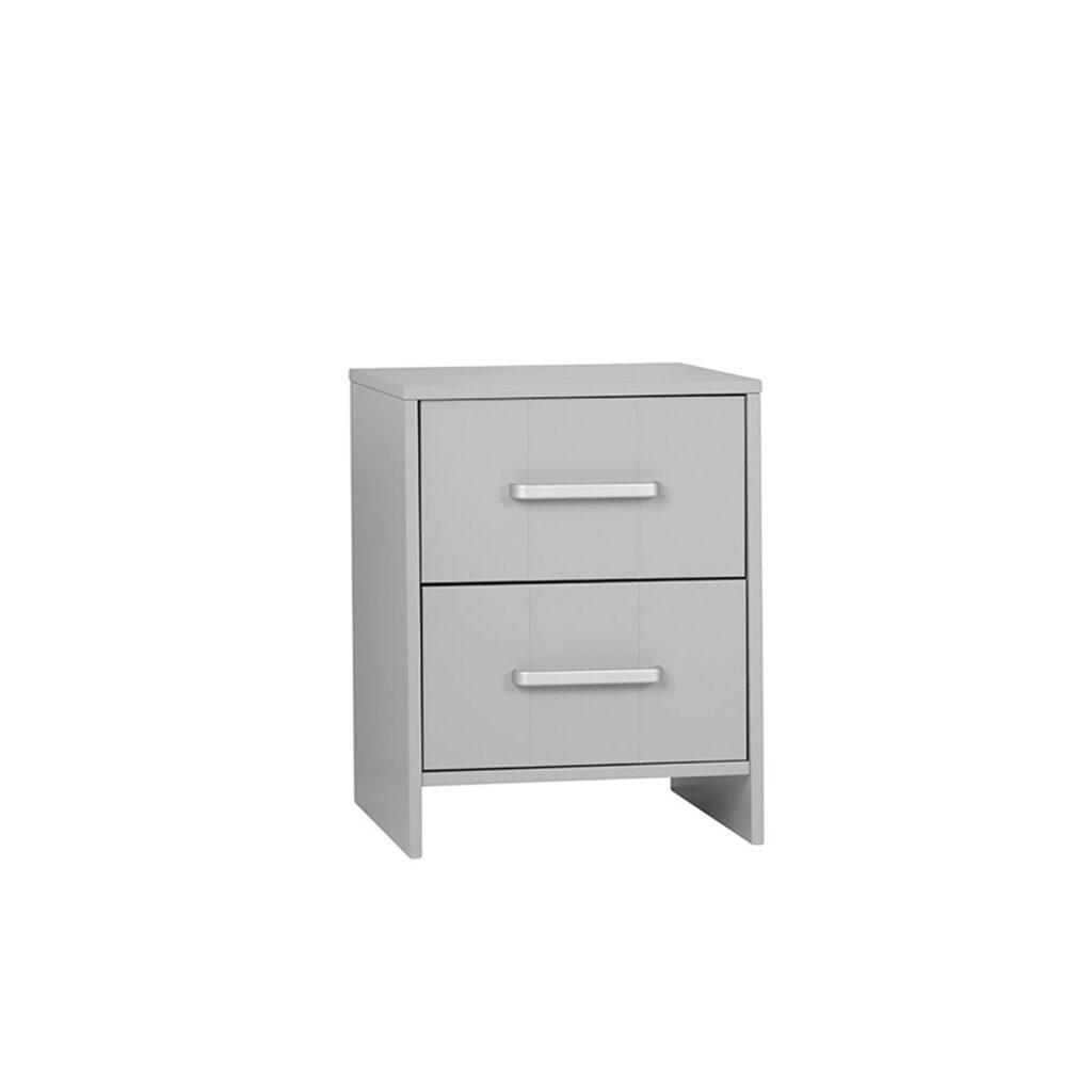 Cassettiera Stretta E Lunga collezione calmo cassettiera per scrivania / comodino bianco o grigio by  pinio