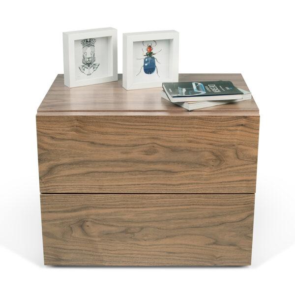 Comodino aurora noce by temahome amf mobili di design for Magazzino di mobili di design