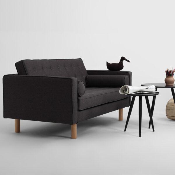 Divano Topic 2 Posti Carbon By Customform Amf Mobili Di Design