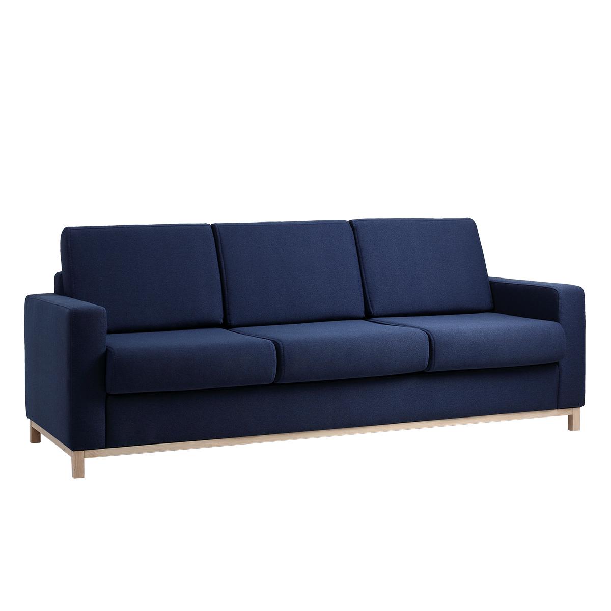Divano Letto Blu.Divano Letto Scandic 3 Posti Blu By Customform Amf Mobili Di Design