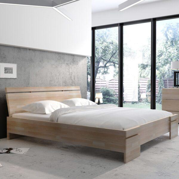Letti Con Contenitore Design.Letto Sparta Con Contenitore In Faggio By Skandica Amf Mobili Di