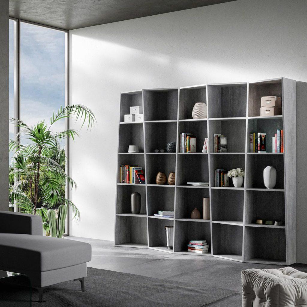 Libreria Per Libri Pesanti libreria a parete trek 5 by itamoby