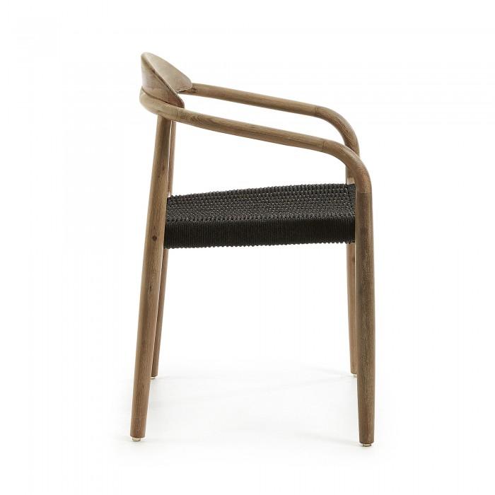 Sedie Legno Da Esterno.Sedia Glynis Grigio Scuro Da Esterno By Laforma Amf Mobili Di Design