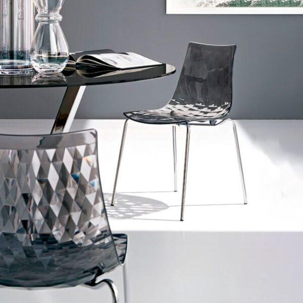 Sedie Pieghevoli Con Carrello Calligaris.Sedia Ice Monoscocca By Connubia Calligaris Amf Mobili Di Design