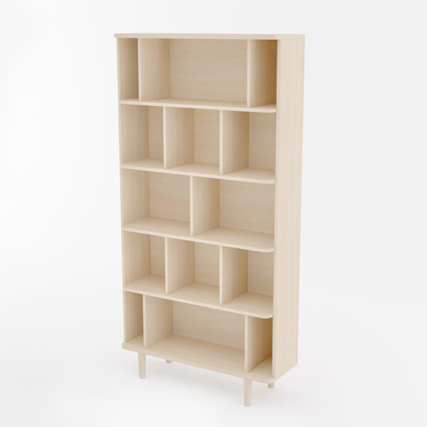 Libreria vaasa in legno di rovere sbiancato by woodman amf mobili di design - Mobili in legno sbiancato ...